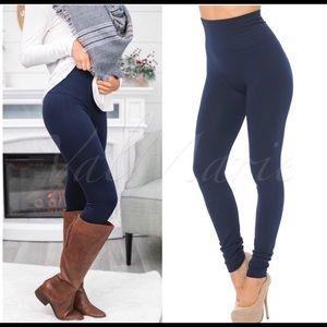 New! 🎄Premium high waist thick fleece leggings